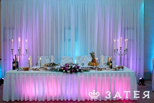 шикароное оформление зала для свадьбы