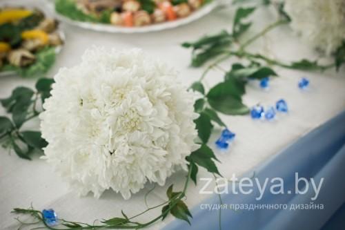 Шары из хризантем