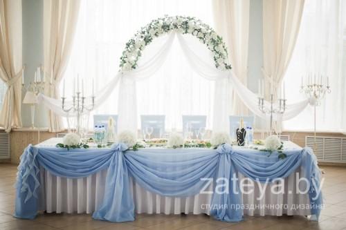 Свадебное оформление в голубом цвете