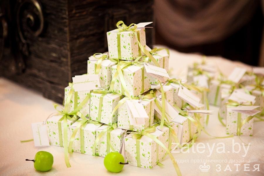 бонбоньерки на яблочную свадьбу