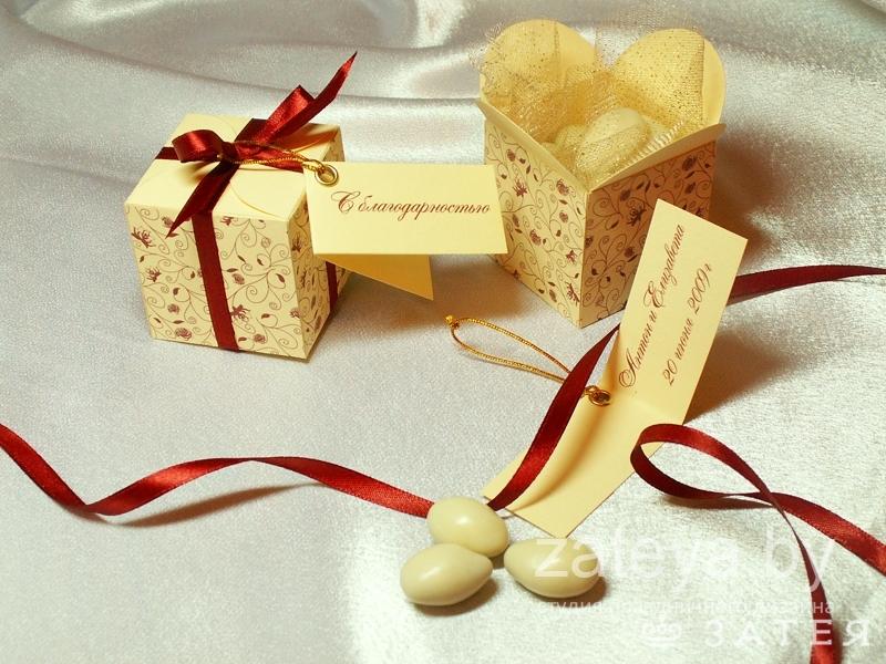 Коробочки на свадьбу гостям своими руками