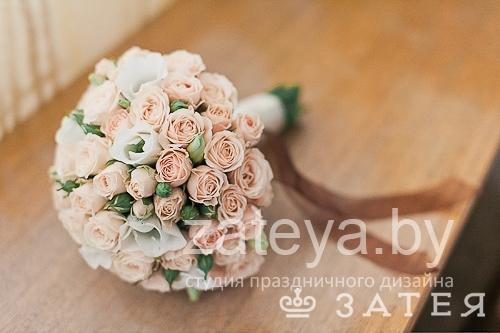 Букет невесты из кустовой розы