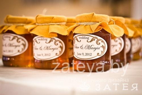 Мед в подарок на свадьбе