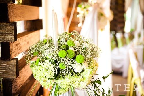 гортензии на свадьбе