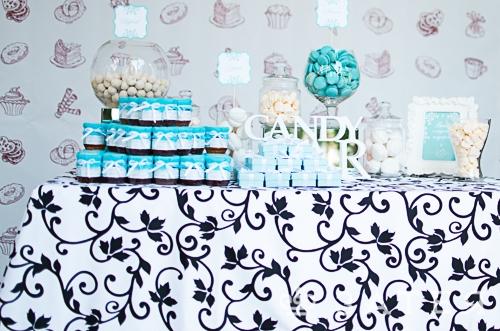 candy bar на свадьбе тиффани