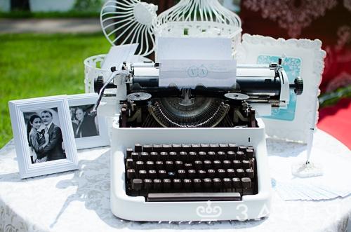 печатная машинка для пожеланий на свадьбе