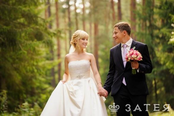 лесная прогулка на свадьбе в витебске