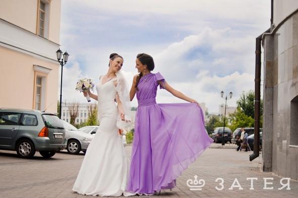 нежно-фиолетовые элементы на свадьбе