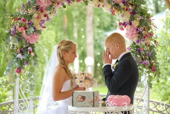 трогательная церемония бракосочетания