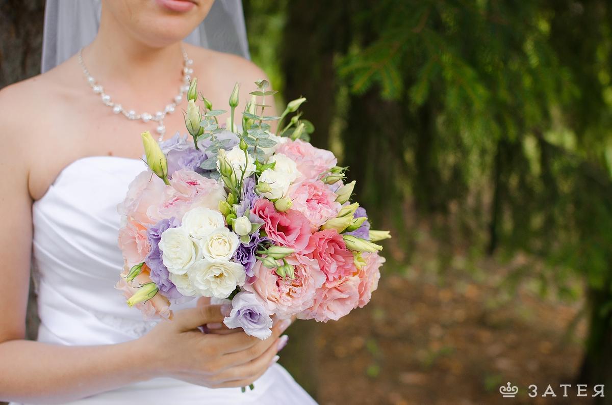 разнообразие в букете невесты