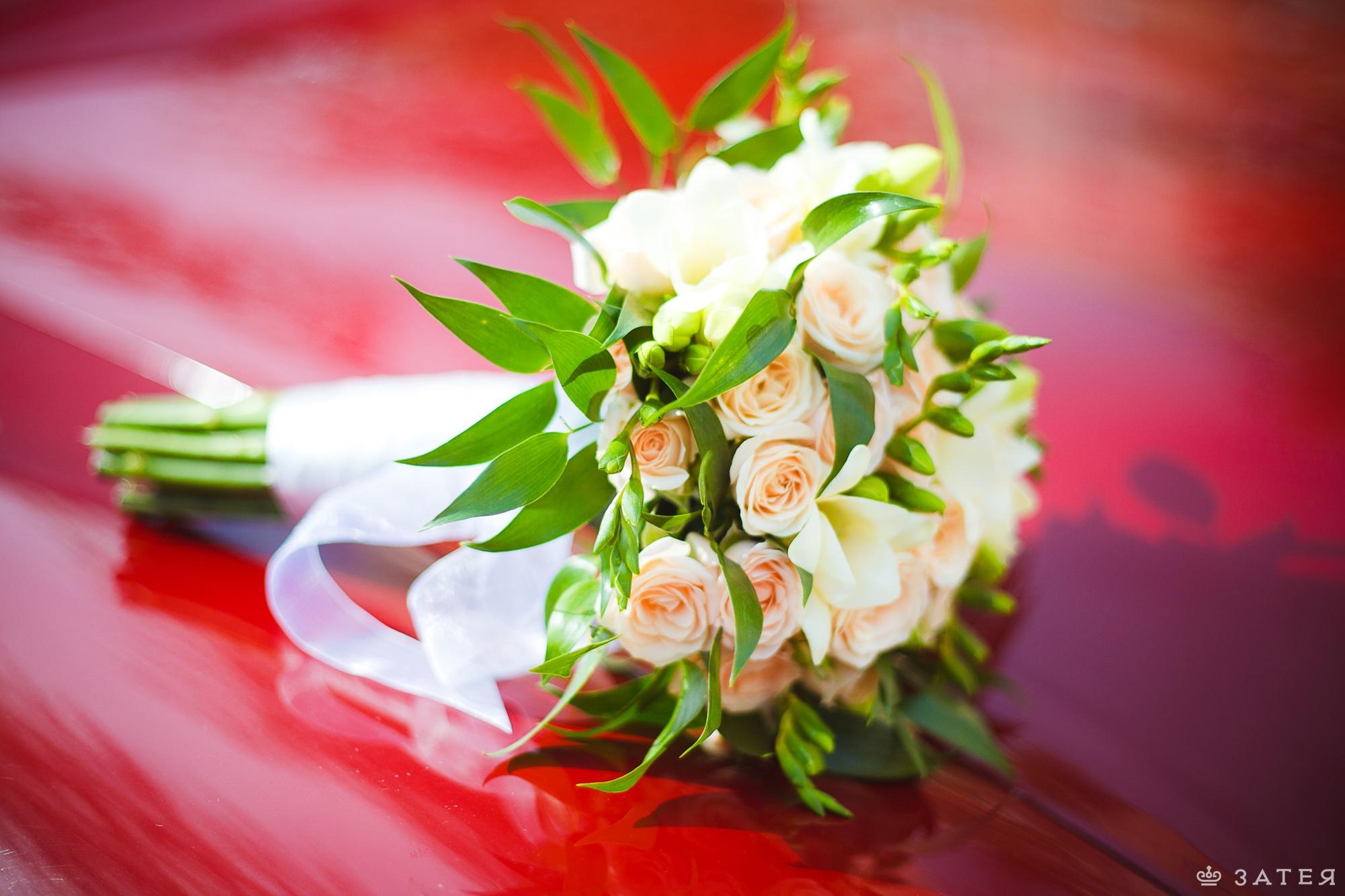 ригинальный букет невесты