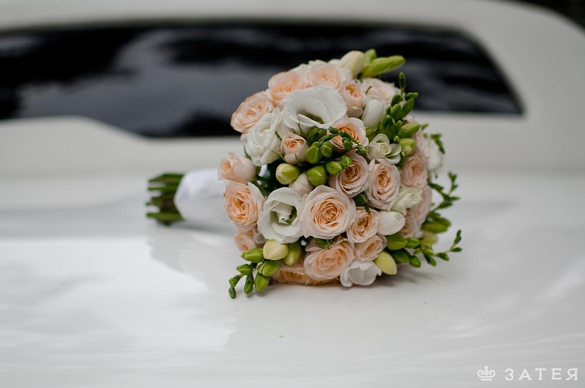 кремовый букет для невесты