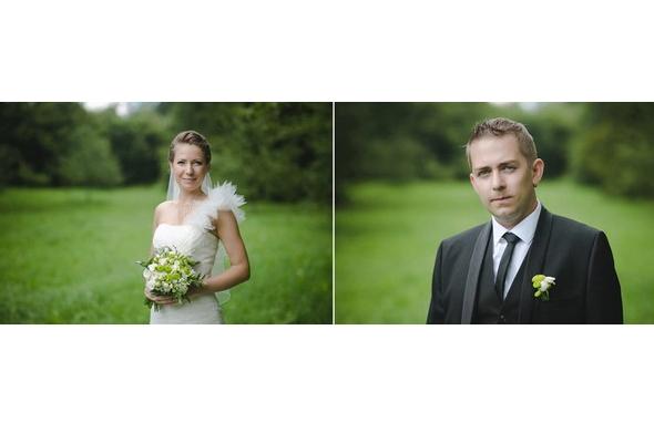 букет невесты в бело зеленой гамме