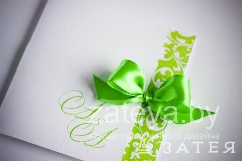 Свадебное приглашение с инициалами