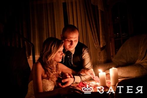 свечной декор свадьбы