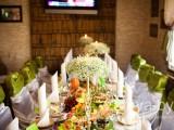 украшение ресторана живыми цветами