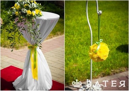 шары из живых цветов на свадьбе