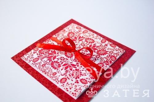 Свадебное приглашение в красном цвете