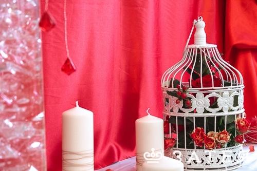 оформление свадьбы в красном цвете в витебске