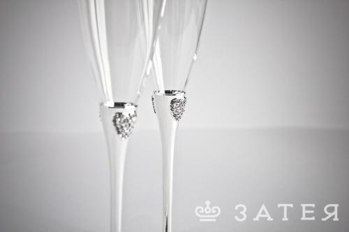 красивые свадебные бокалы