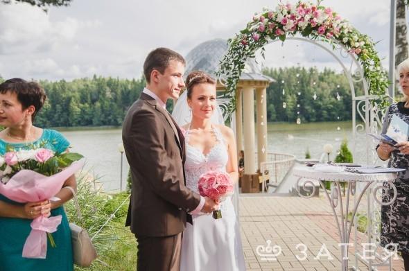 регистрация брака на берегу озера