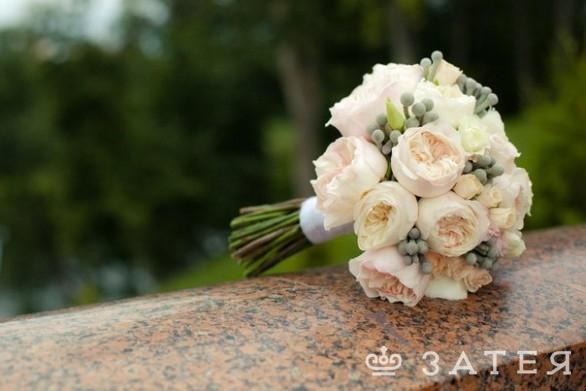 шикарный свадебный букет