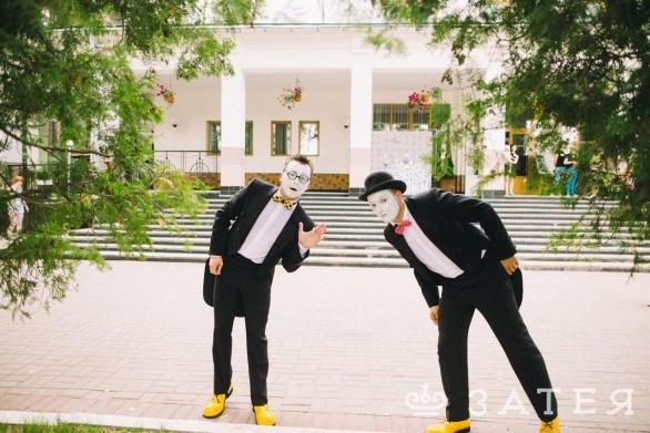 мим-шоу на свадьбе