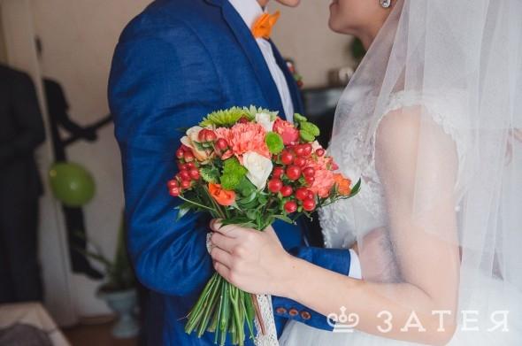 свадебный букет на своих стеблях
