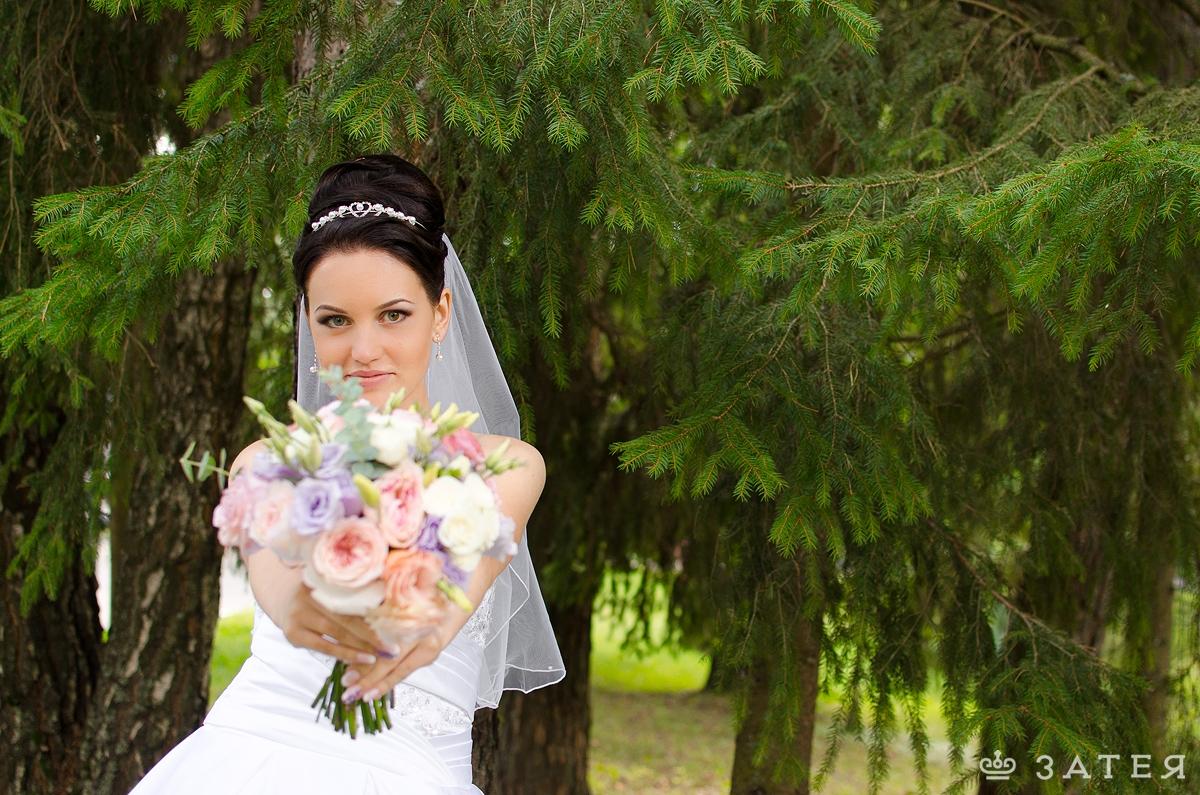 цветной букет невесты