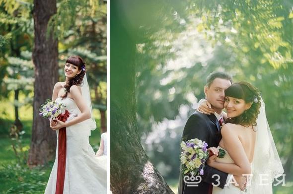 лавандовый свадебный букет