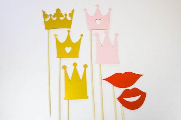 короны и губы для фотосессии